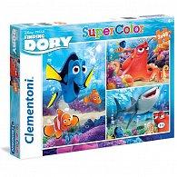 Puzzle Supercolor Hledá se Dory 3x48 dílků