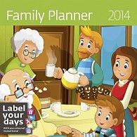 Kalendář 2014 - Family Planner - nástěnný