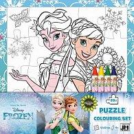 Ledové království - Omal. puzzle s voskovkami