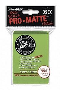UltraPRO: 60 DP PRO Matte obaly malé  - limetková zelená