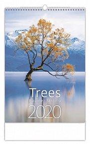 Kalendář nástěnný 2020 - Trees/Baume/Stromy