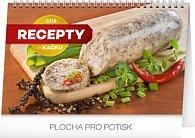 Kalendář stolní 2018 - Recepty za kačku, 23,1 x 14,5 cm