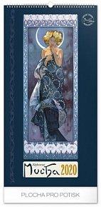 Kalendář nástěnný 2020 - Alfons Mucha, 33 × 64 cm