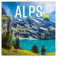 Kalendář poznámkový 2020 - Alpy, 30 × 30 cm