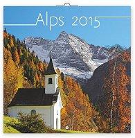Kalendář 2015 - Alpy - nástěnný (GB, DE, FR, IT, ES, NL)