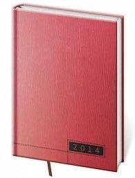 Diář 2014 - týdenní A5 Legno - červená/černá