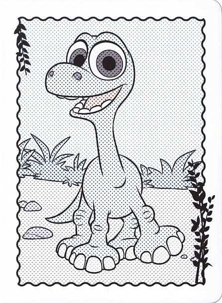 Náhled Hodný dinosaurus - Omalovánky Maluj vodou!