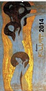 Kalendář 2014 - Gustav Klimt - nástěnný s prodlouženými zády