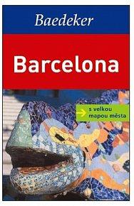 Barcelona s velkou mapou města - Baedeker
