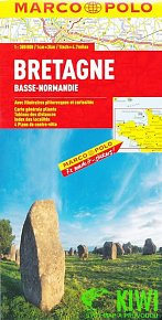 Bretaň, Normandie západ/ mapa 1:300T MD