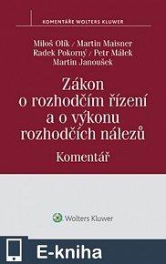Zákon o rozhodčím řízení a o výkonu rozhodčích nálezů (č. 216/1994 Sb.) - Komentář (E-KNIHA)