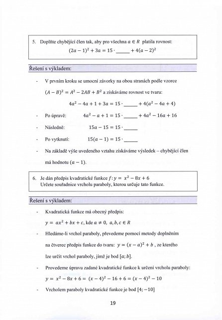 Náhled Tvoje státní maturita 2017 - Matematika
