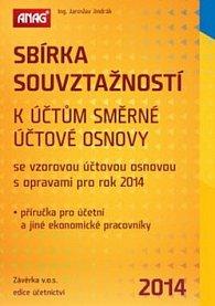 Sbírka souvztažností k účtům směrné účtové osnovy 2014