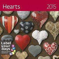Kalendář nástěnný 2015 - Hearts