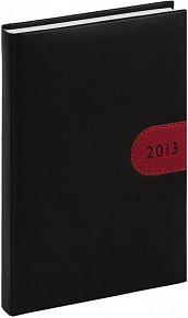 Diář 2013 - Tosca - Denní A5, černočervená, 15 x 21 cm