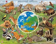 Puzzle MAXI - Zvířata Evropy/90 dílků