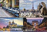 Kalendář nástěnný 2017 - Postcard from ...