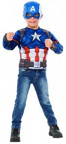 Avengers: Infinity War - Captain America - kostým triko s vycpávkami a maska
