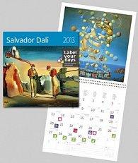Salvador Dalí - nástěnný kalendář 2013