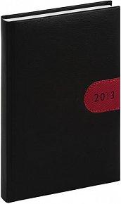 Diář 2013 - Tosca - Denní B6, černočervená, 11 x 17 cm