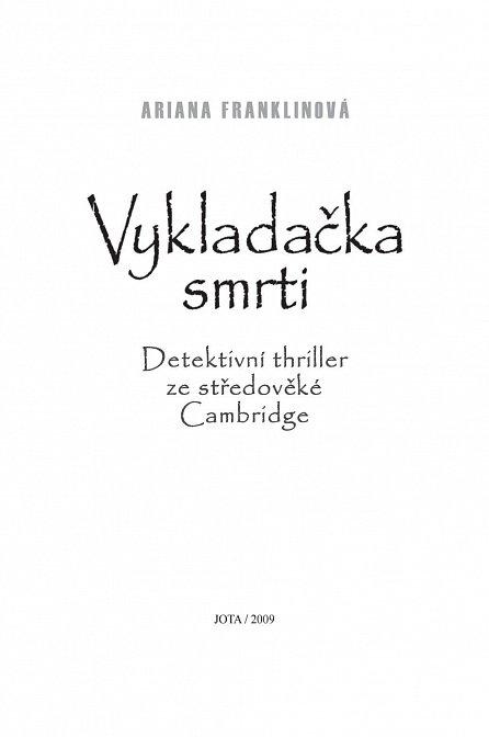 Náhled Vykladačka smrti - Detektivní thriller ze středověké Cambridge