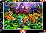 Puzzle Tygři v džungli 500 dílků