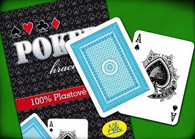 Náhled Poker plastové karty červené
