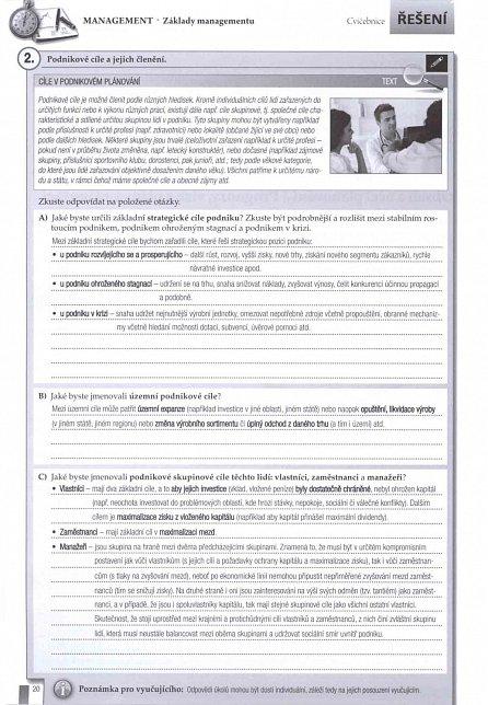 Náhled Management - Cvičebnice - Řešení