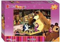 Puzzle 120 Máša a Medvěd - Dáma s tučňákem