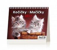 Kalendář stolní 2017 - MiniMax/Kočičky
