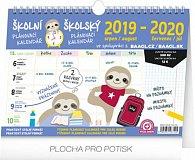 Kalendář nástěnný 2020 - Školní plánovací s háčkem, 30 × 21 cm