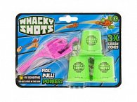 Whacky Shots 9,5cm s doplňky Metal Blast růžový na kartě