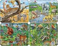 Puzzle MINI - Exotická zvířata/11 dílků (4 druhy)