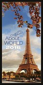 Kalendář nástěnný 2016 - All About World/Exklusive
