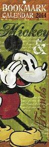 Kalendář 2014 - W. Disney Mickey & Friends kalendář s 12 záložkami do knihy