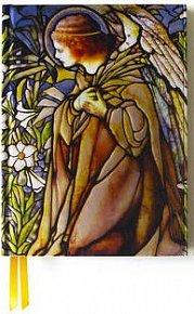 Zápisník Flame Tree Tiffany Angel Stained Glass Window