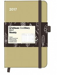 Diář Cool Diary Sand/Feather White 2017 WEEKLY (9 x 14 cm)