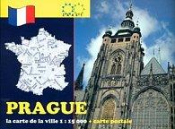 Prague la carte de la ville 1:15 000 + carte postale