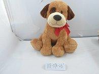 Pes plyšový hnědý 66 cm