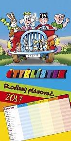 Kalendář nástěnný 2017 - Čtyřlístek/Rodinný plánovač