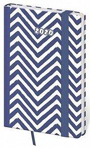 Diář 2020 - Vario/týdenní/kapesní/Navy s gumičkou