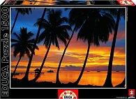 Puzzle Pláž Bora Bora 1500 dílků