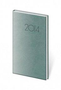 Diář 2014 - kapesní týdenní Print - modrošedá
