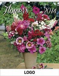 Kalendář 2014 - Květiny Praktik - nástěnný s prodlouženými zády