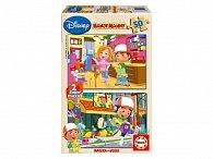 Dřevěné puzzle Handy Many, 2x50 dílků, dva motivy