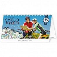 Kalendář stolní 2016 - Tipy na cyklovýlety,  30 x 16 cm