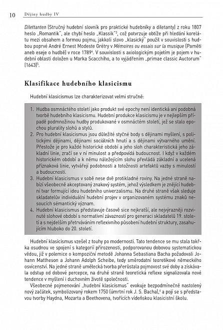 Náhled Dějiny hudby IV. - Klasicismus (+ CD)