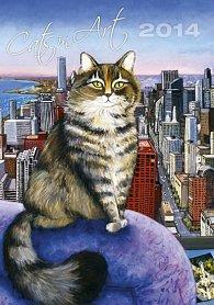 Kalendář 2014 - Cats in Art - nástěnný