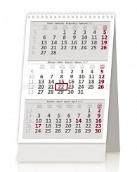 Kalendář stolní 2017 - Mini tříměsíční