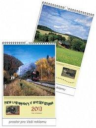 Parní lokomotivy v horské krajině 2013 - nástěnný kalendář